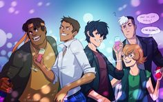 """""""happy new year piece"""" by thesearchingastronaut << Shiro is the best part of this pic """"IS THAT ALCOHOL?!"""""""