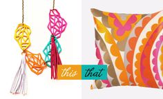 ...wear this Boo   Boo Factory necklace, decorate with that Trina Turk pillow...