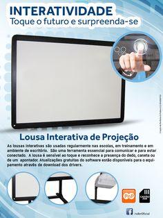 Soluções em aplicações touch screen e novas mídias.