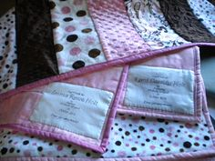 How to make a quilt label.