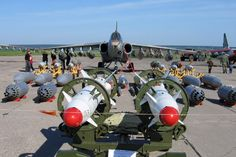 Sukhoi SU-25 with weapons payload.