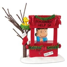 Peanuts Village from Department 56 Lucy Is In ** Special product just for you. : Home Decor Collectible Figurines Charlie Brown Christmas, Little Christmas, Christmas Holidays, Christmas Decorations, Christmas Ornaments, Christmas Clay, Snoopy Christmas, Peanuts Christmas Tree, Christmas Ideas