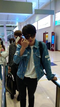 BTS arrived at Yangon International Airport 150615 for KPOP CONCERT LIVE IN YANGON - MYANMAR