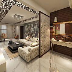 Astonishing partition design ideas for living room 14 House Ceiling Design, Ceiling Design Living Room, Home Room Design, Living Room Designs, Drawing Room Ceiling Design, Flur Design, Plafond Design, Sofa Design, Flat Interior Design