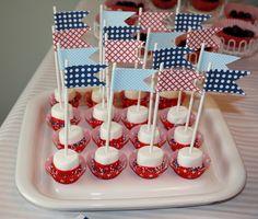 Patriotic Marshamallow Pops