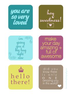 Sweet Notes Printables Laura Winslow Photography | Scribd