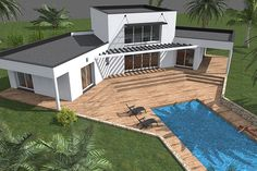 Sims 3 Houses Plans, Free House Plans, Modern House Plans, Village House Design, Bungalow House Design, Container House Plans, Container House Design, My Home Design, Modern House Design