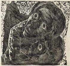 Lívio Abramo, Guerra-Medo, xilogravura, 38.80 x 20.70 cm