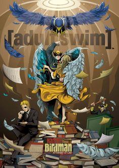 Man-Tsun illustrates new Adult Swim poster series - Harvey Birdman