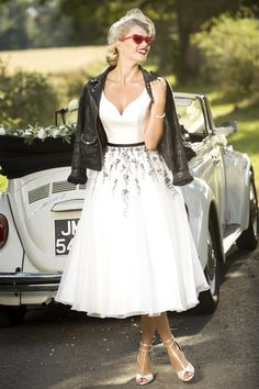 Tea Length Bridal and 50's Style Short Wedding Dresses | Brighton Belle | Bea | True Bride