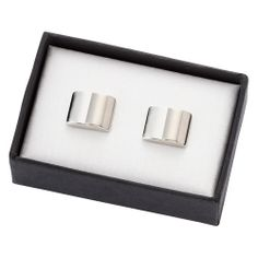 Monogrammed Two Tone Silver Metal Cufflinks in Gift Box Initial custom cufflinks for men personalized wedding Groomsmen cufflinks