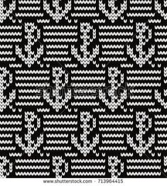 Knitted seamless pattern anchors