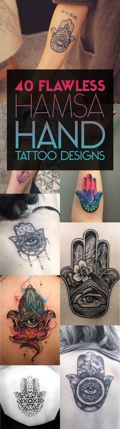 40 Flawless Hamsa Hand Tattoo Designs | TattooBlend