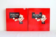 Vintage Poker  Keno Board Game PoKeno U.S. by VintageRescuer, $18.00