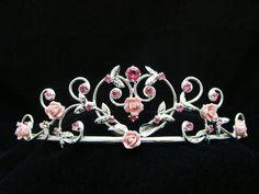 pink wedding tiara