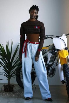 Ground_Zero ny fashion week fall 2016 90's baggy flare jeans