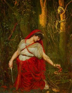 Valentine Cameron Prinsep, (14 February 1838 – 11 November 1904) British painter Medea the Sorceress, c. 1880