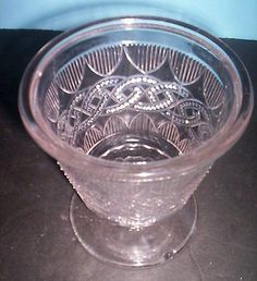 "EAPG ""Chain & Shield"" Sugar Bowl,, Portland Glass, 1870's"