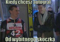 Polish Memes, Ski Jumping, Wtf Funny, Skiing, Haha, Baseball Cards, Humor, Sports, Jumpers