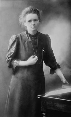 Born in Poland, Marie Curie developed methods for separation of radioactive residues; she refused to patent, which led to medical advancements saving billions of lives. She put prize winnings into war bonds and devoted herself to development of x-radiography during war. Died from leukemia induced by prolonged exposure to radioactivity.
