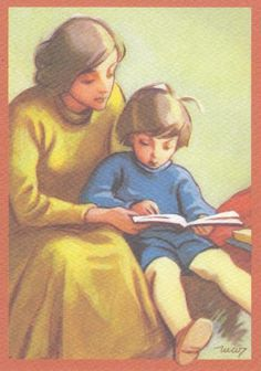 Mother reading to her son. People Reading, Book People, Children Reading, Reading Art, Woman Reading, Reading Books, Books To Read For Women, Jr Art, Lectures