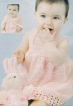 Pink Baby Dress free crochet graph pattern