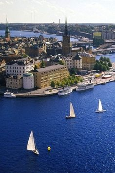 "Stockholm, ""city of water"" When I lived in Helsinki, Finland, I loved visiting Stockholm. It's such a wonderful place to be."