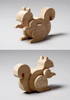 Woodworks by Egor Kraft, via Behance
