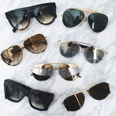 Bom Dia ♥ com muitos oculos e amor! #oticaswanny #oculos #sol #dita #dior #celine #rayban #gucci #amamos