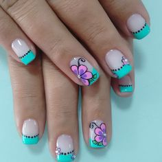 hi new post Funky Nail Art, Cute Nail Art, Cute Acrylic Nails, Cute Nails, Pretty Nails, Cute Spring Nails, Summer Nails, Nail Polish Art, Beautiful Nail Designs
