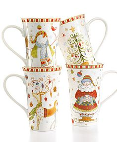 222 Fifth Christmas Play Latte Mugs