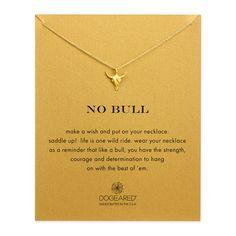 no bull, bull skull necklace #dogeared