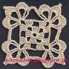 e-crochet: Κλασσικό μοτίφ (2)