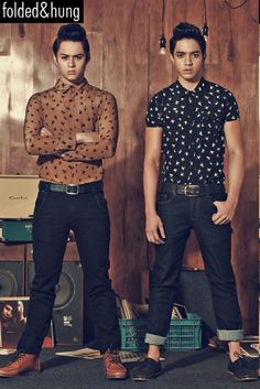 Enrique Gil, Alden Richards and Elmo Magalona for Folded and Hung 2012 Preholiday Campaign