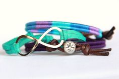 Infinity Woven Friendship Bracelet  Pastel Stripes and by MesaBlue
