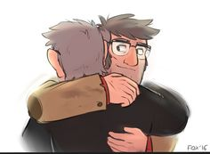 """glad you're okay, brother"". (I still hope they will hug it out tbh :'з)"