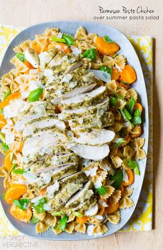 Pesto Chicken with Parmesan Crust #Pesto #Chicken #Italian