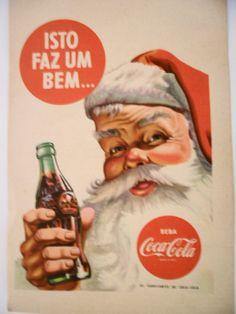 V-175 Propaganda Antiga Coca Cola Papai Noel 1954 - R$ 25,00 no MercadoLivre