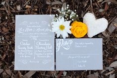 gray wedding invitations // photo by Love Janet Photography // stationery by Simple Simon Design