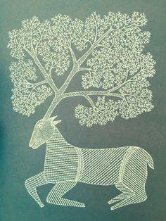 indian illustration of a sacred animal