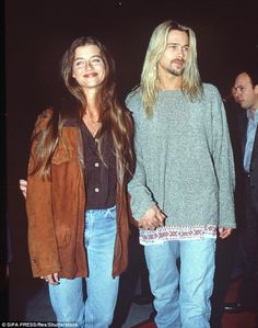 90's style:In 1993 he had a brief fling with brunette model Jitka Pohlodek