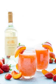 This looks awesome! Can't wait to make it. Strawberry Peach Wine Slushies are made with just a few ingredients and a blender. Mix them up for a night with the girls or a summer day by the pool!