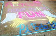 Pi Beta Phi chalk art! #piphi #pibetaphi