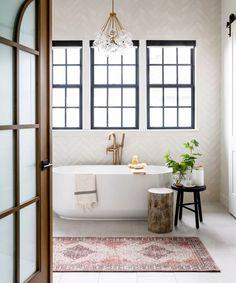 Utah, Style Me Pretty Living, Scandinavian Style Home, Scandinavian Modern Interior, Arched Doors, White Rooms, Shop Interiors, Bathroom Inspiration, Bathroom Ideas