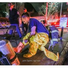"""FEATURED POST   @jspink1 -  Atlanta Fire Rescue Squad 4's firefighter Jason Turner suits up to investigate suspicious items found at the Georgia Capitol on two statues including one of former President Jimmy Carter were not hazardous on Monday March 13 2017. """"There's no immediate danger right now to anyone """" Atlanta fire Sgt. Cortez Stafford said. Officials got a call about suspicious items on the grounds of the Capitol about 5 a.m. he said. """"Upon further investigation it was determined that…"""