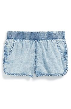 Ella Moss Chambray Shorts (Big Girls) available at #Nordstrom