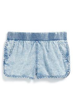 Ella Moss Chambray Shorts (Big Girls) available at #Nordstrom