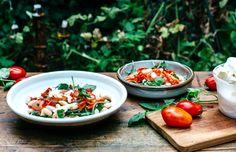 Blackened Chilli with Buffalo Mozzarella, Cannellini Beans and Lemon Crème Fraîche — The Design Files | Australia's most popular design blog.