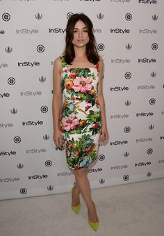 Crystal Reed in Dolce & Gabbana - Instyle Summer Soiree in West Hollywood, California. (August 2013)