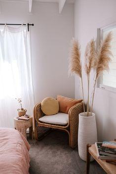 Step Inside Ellie Bullens Beach Inspired Home – harpers project Room Ideas Bedroom, Home Bedroom, Bedroom Decor, Bedrooms, Decor Room, Room Art, Design Bedroom, Aesthetic Room Decor, My New Room